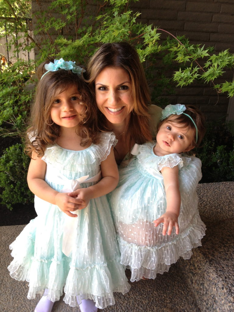 Easter. Girls' dresses, Nordstrom. You can't tell, but yes, my dress is mint green.