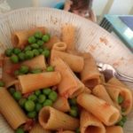 FAST FOOD. Bacon+peas pasta.
