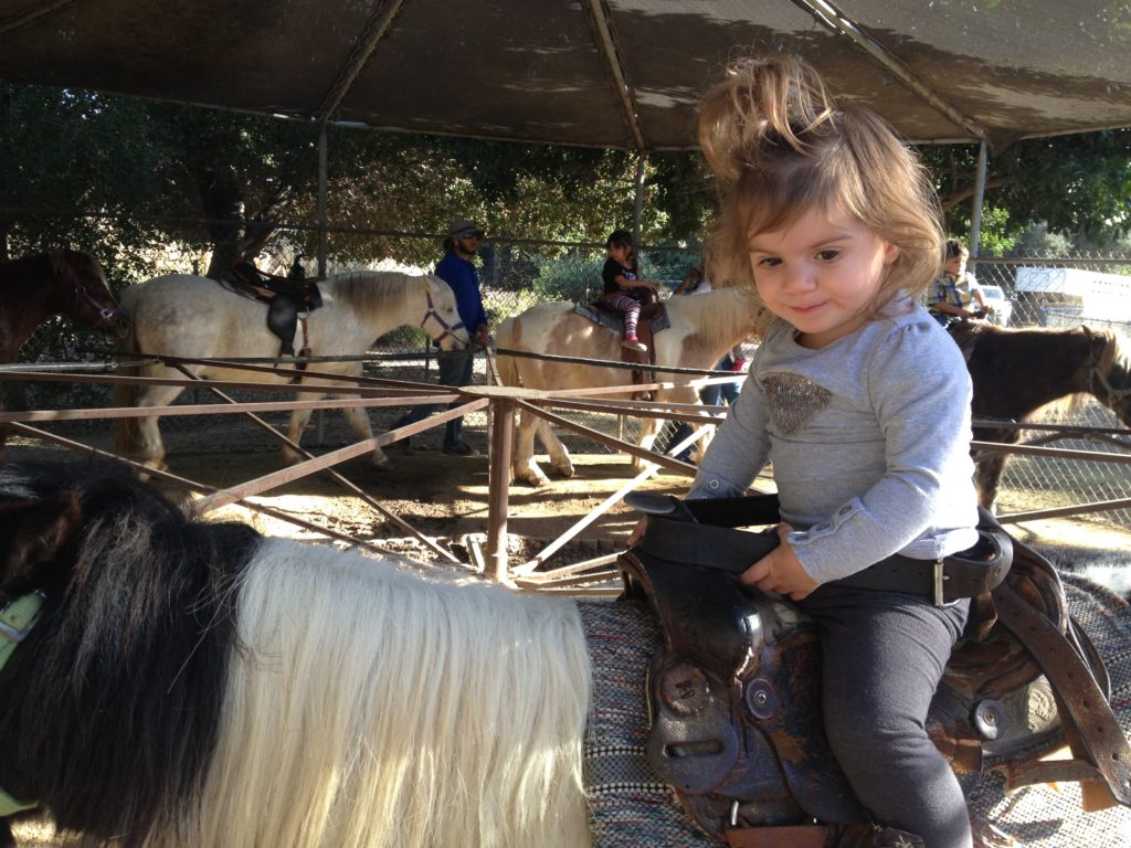 Who says 1 year olds can't ride a pony?
