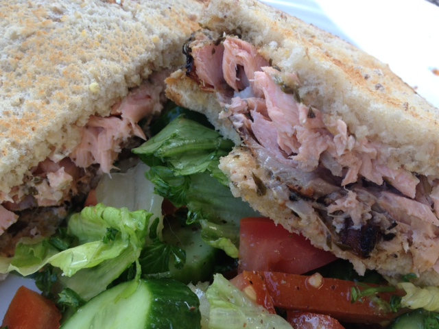 FOOD! Fast Grilled Salmon Sandwich. - The Fab Mom