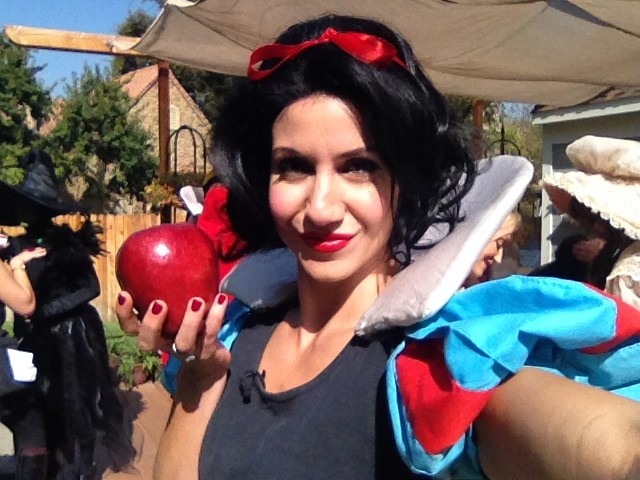 "Me. As Snow White (for Hallmark Channel's ""Home & Family"" special)."
