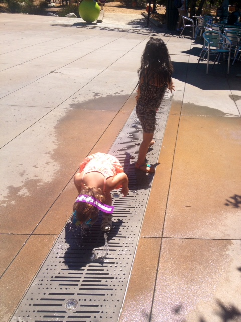 My girls like to do weird things in water fountains - is this normal?
