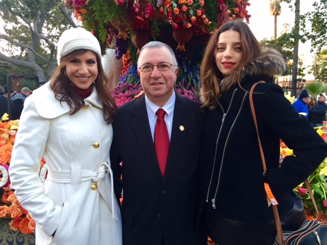 Actress Angela Sarafyan & Honorable Judge Samuel Der Yeghiayan... the FIRST Armenian immigrant to become a federal court judge.