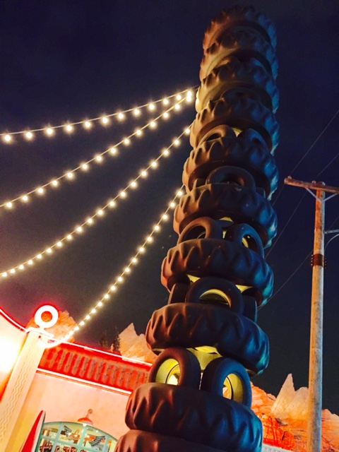 How many tires can you stack 'til they fall?