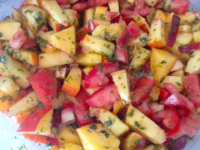 the_fab_mom_dot_com_peach_tomato_summer_salsa_all_greek_to_me_debbie_matenopoulos_cookbook