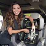 Celebrity mom Ali Landry installs a mean car seat… and rips off a gas pump.