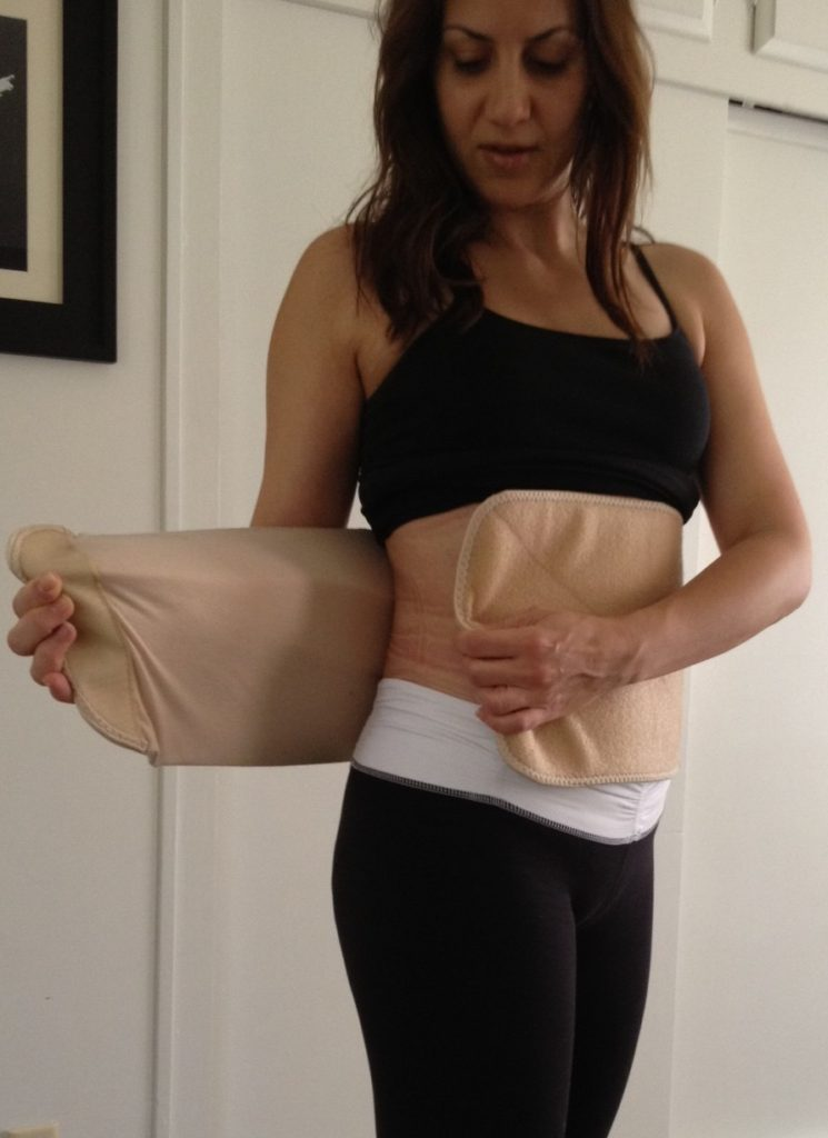 post-pregnancy-after-a-c-section-belly-wrap-new-mom-tips