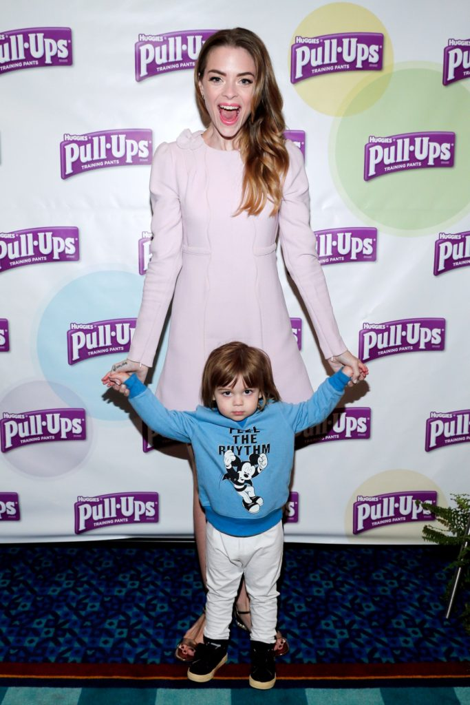 Actress, model and mom of two, Jaime King talks with parents at Disneyland about the Pull-Ups #PottyPartnership, a personalized, comprehensive program that allows you to partner with your child's unique personality, on their schedule and according to how they learn, at Disneyland on April 8, 2016 in Anaheim, California.