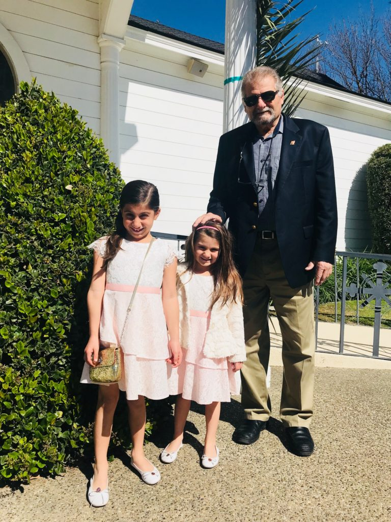 daughters-grandpa-dad-palm-sunday-church-holy-week